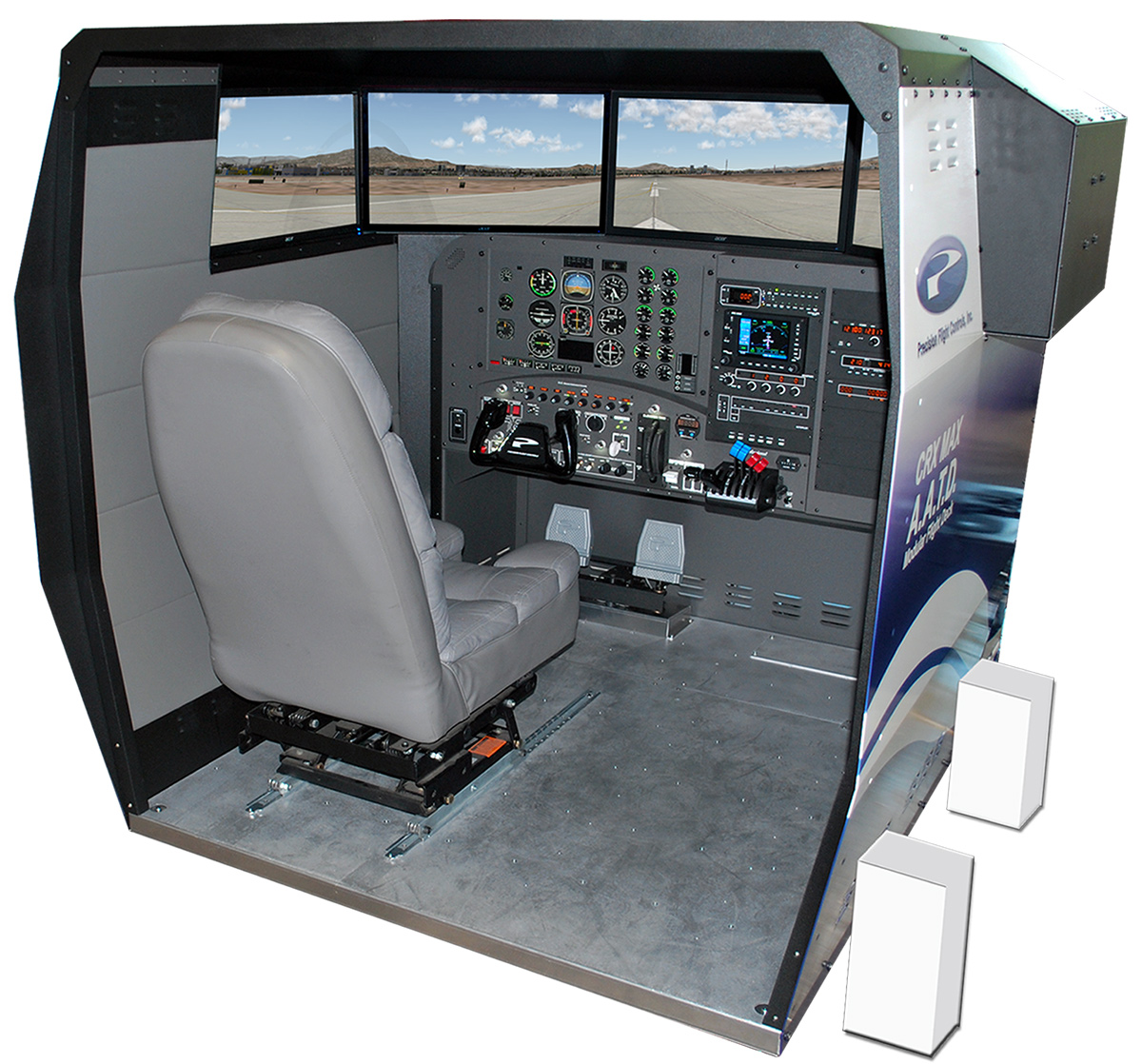 Recliner Gaming Setup Flight Sim Desk Hostgarcia